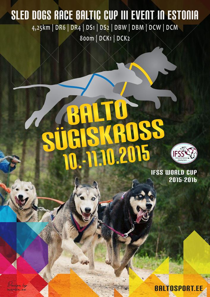 Balto Sügiskross 2015 sled dogs race