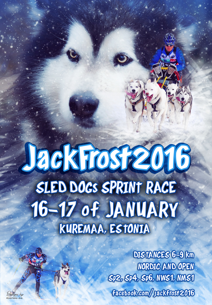 Jack Frost 2016 sled dogs race