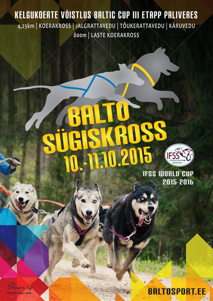 Kelgukoeraspordi võistlus Balto Sügiskross 2015
