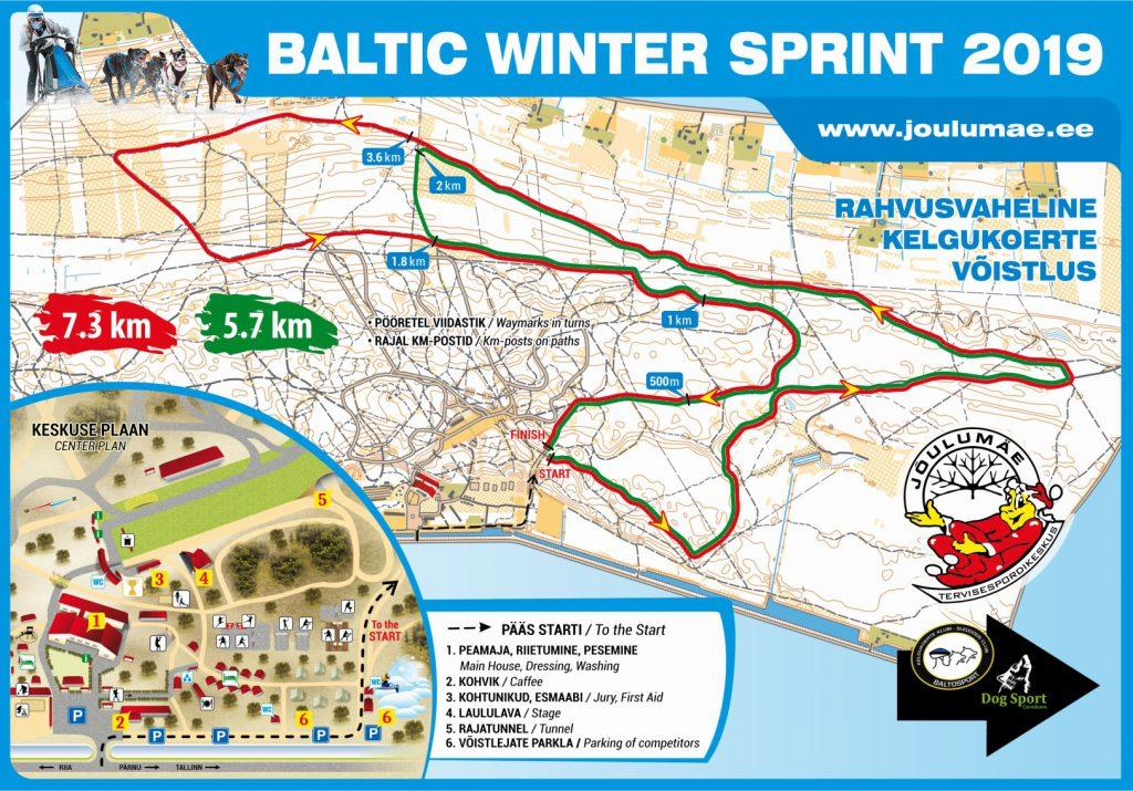 Baltic Winter Sprint 2019 veokoeraspordi võistlus Jõulumäe Tervisespordikeskuses
